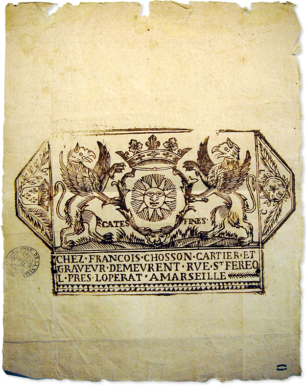 François CHosson 1736 enveloppe originale Archives de Marseille